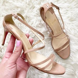 Christian Louboutin Gwinne 70 patent nude heels